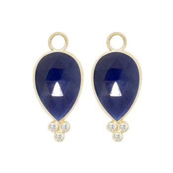 BLUE SAPPHIRE 18K EARRING JACKETS