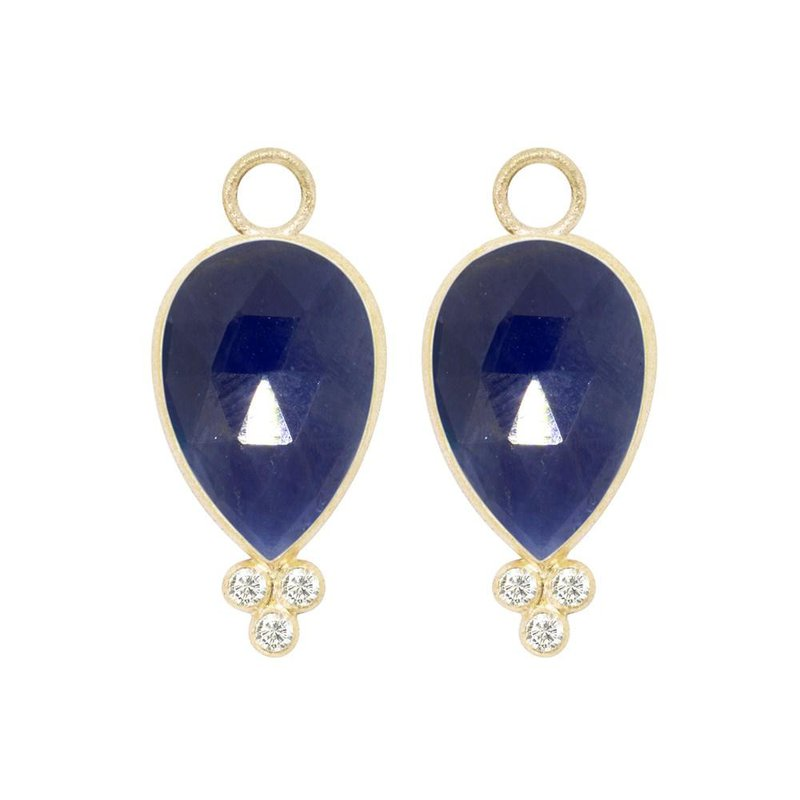 Nina Nguyen Designs BLUE SAPPHIRE 18K EARRING JACKETS