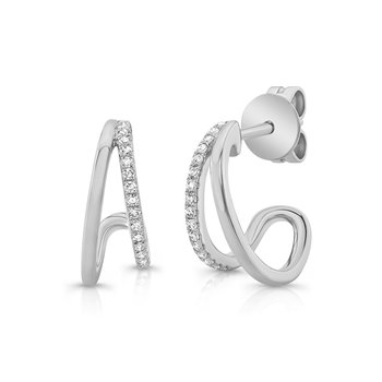0.10 ctw Diamond Huggie Post Earrings