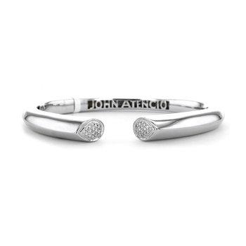 0.25 ctw Diamond Hinged Bangle Bracelet