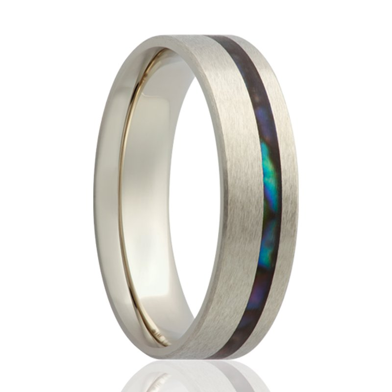 Continental Collection 6MM Abalone Inlay Band