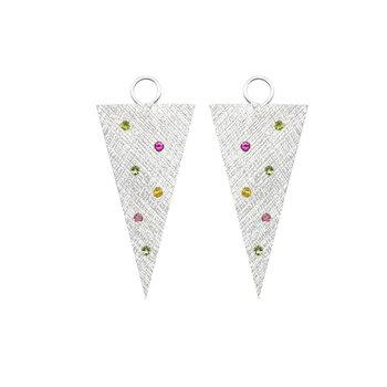 MULTI TOURMALINE SILVER EARRING JACKETS