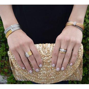 0.30 ctw Diamond Cable Cuff Bracelet
