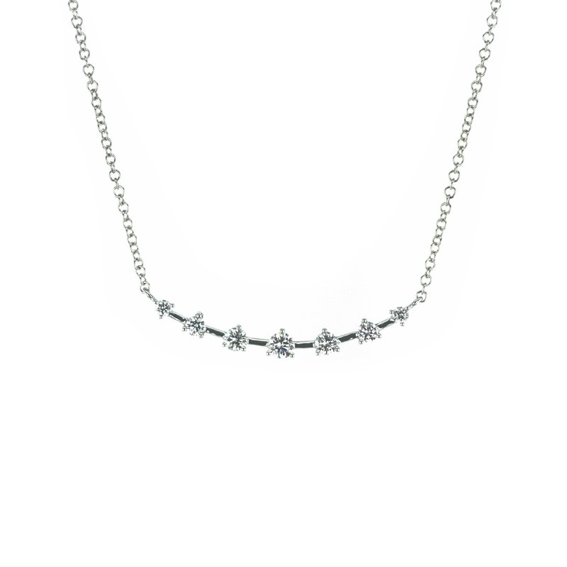 Continental Collection 0.27 ctw Diamond Curved Bar Necklace
