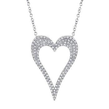 0.31 ctw Diamond Open Heart Necklace