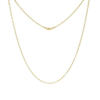 "18"" 2.1MM Paper Clip Necklace"
