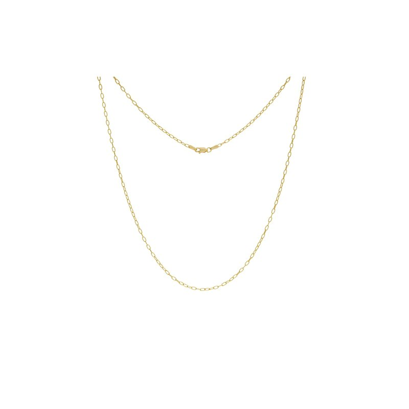 """Continental Collection 18"""" 2.1MM Paper Clip Necklace"""
