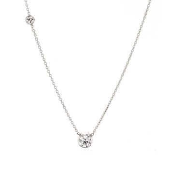 0.30ct Round Bezel Diamond Lila Necklace