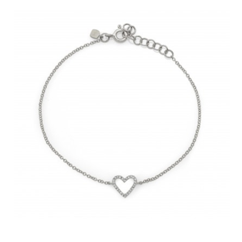 0.07 ctw Diamond Heart Bracelet