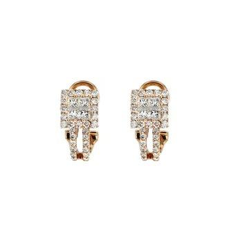 1.34 ctw Diamond Huggie Post Earrings
