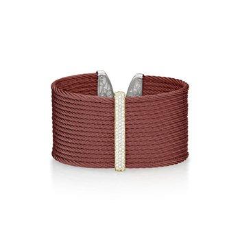 0.56 ctw Diamond Cable Cuff Bracelet