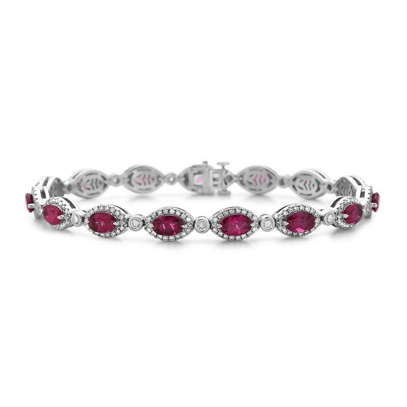 Charles Krypell Diamond & Rubellites Bracelet