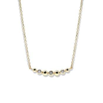 0.30 ctw Diamond Bubble Bar Necklace