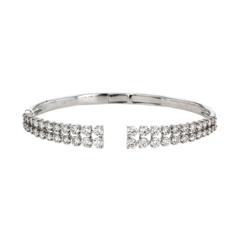 Continental Collection 3.77 ctw Diamond Bangle Bracelet
