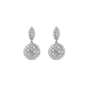 3.76 ctw Diamond Drop Post Earrings