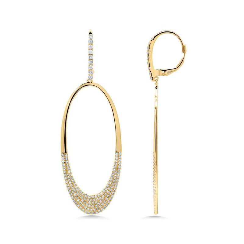 Shy Creation 0.85 ctw Diamond Oval Drop Earrings