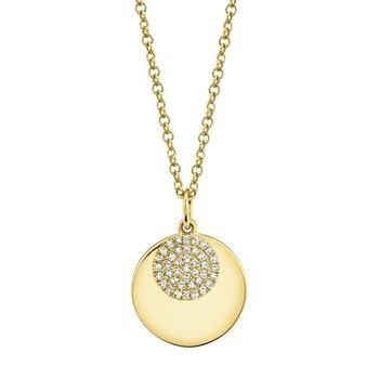 0.09 ctw Diamond Disc Pendant Necklace