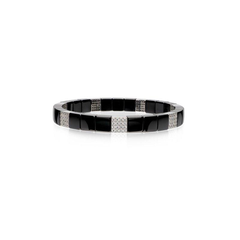 Roberto Demeglio 1.19 ctw Diamond & Ceramic Stetch Bracelet