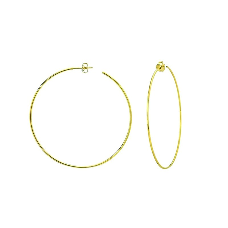 Continental Collection Large Hoop Post Earrings