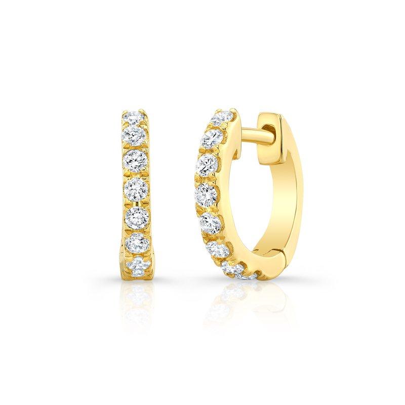 "Continental Collection 0.30 ctw Diamond ""U"" Huggie Earrings"