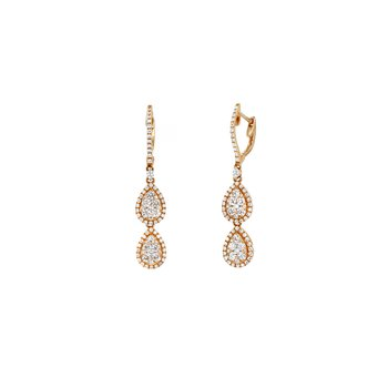 Diamond Double Drop Earrings