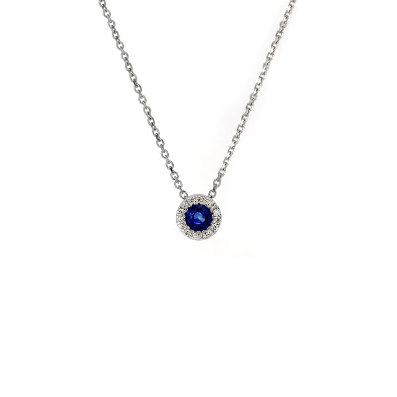 Continental Collection Blue Sapphire Pendant