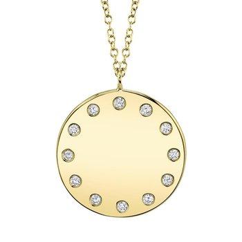 0.09 ctw Diamond Round Pendant Necklace
