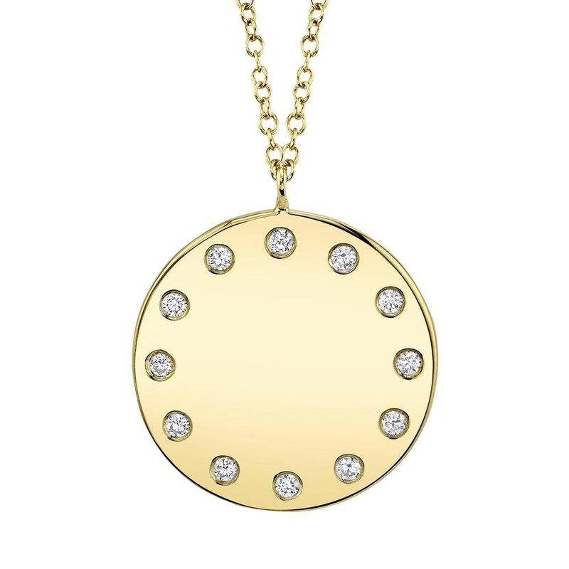Shy Creation 0.09 ctw Diamond Round Pendant Necklace
