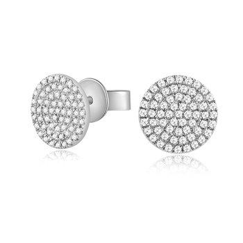 0.26 ctw Diamond Large Pave Post Earrings