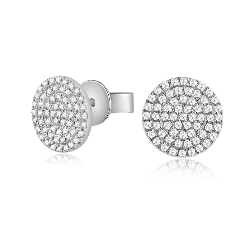 Continental Collection 0.26 ctw Diamond Large Pave Post Earrings