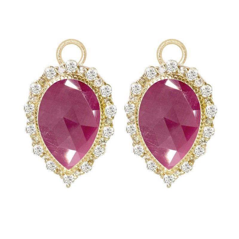 Nina Nguyen Designs Ruby & Diamond Pear Drop Jackets