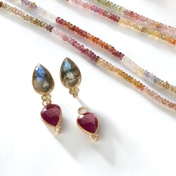Ruby & Diamond Pear Drop Jackets