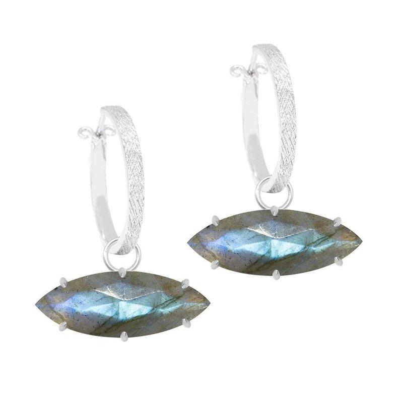 Nina Nguyen Designs Labradorite Oxidized Silver Drop Jackets