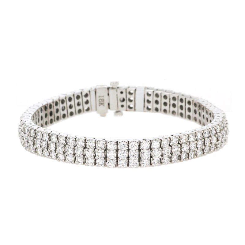 Continental Collection 10.09 ctw Diamond Tennis Bracelet