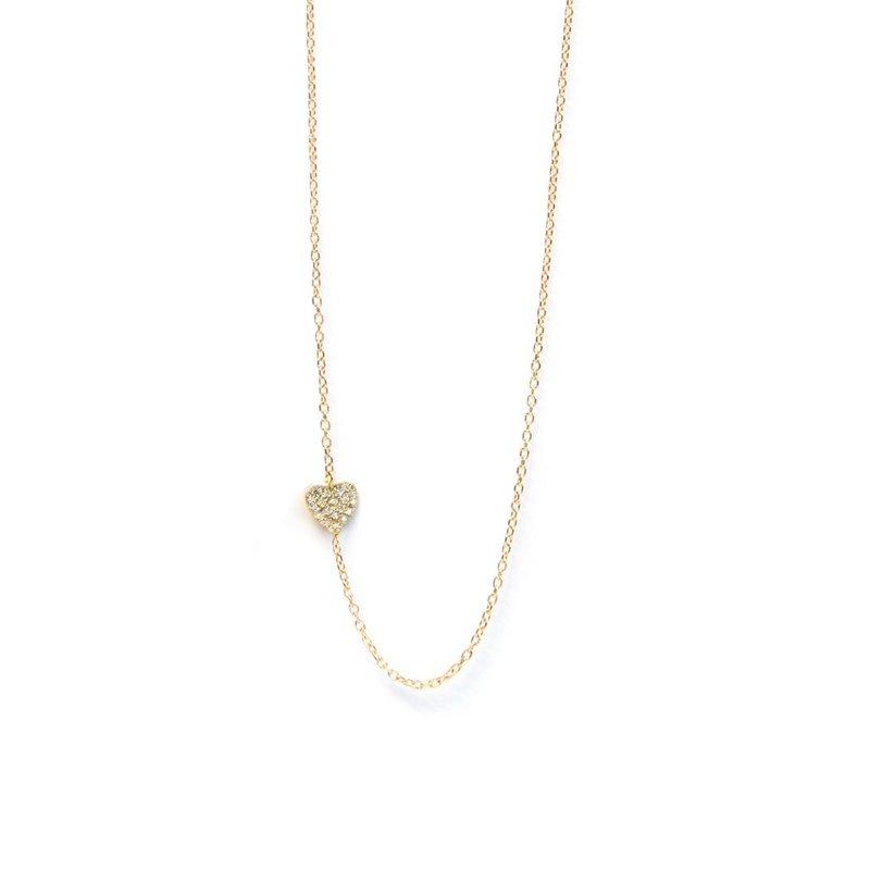 Anzie Diamond Heart Necklace