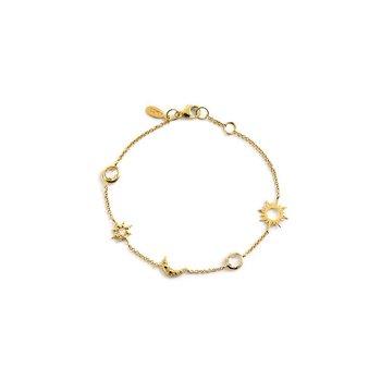 White Topaz Celestial Charm Bracelet