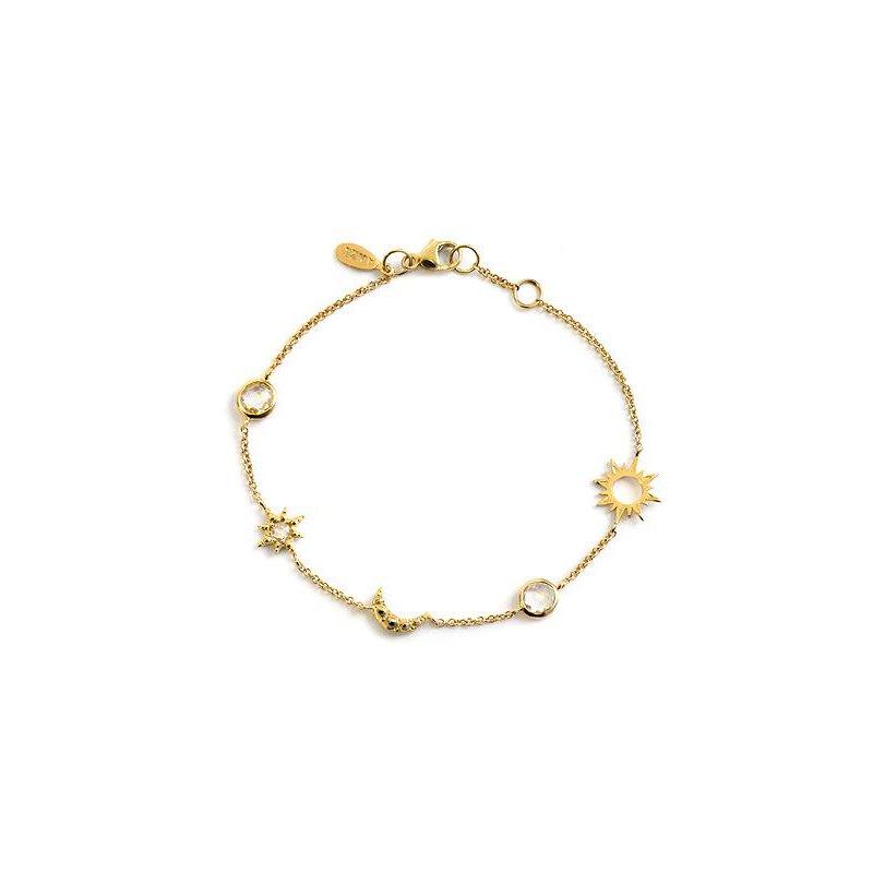 Anzie White Topaz Celestial Charm Bracelet