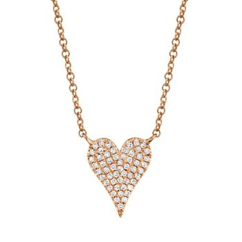 0.11 ctw Diamond Heart Necklace