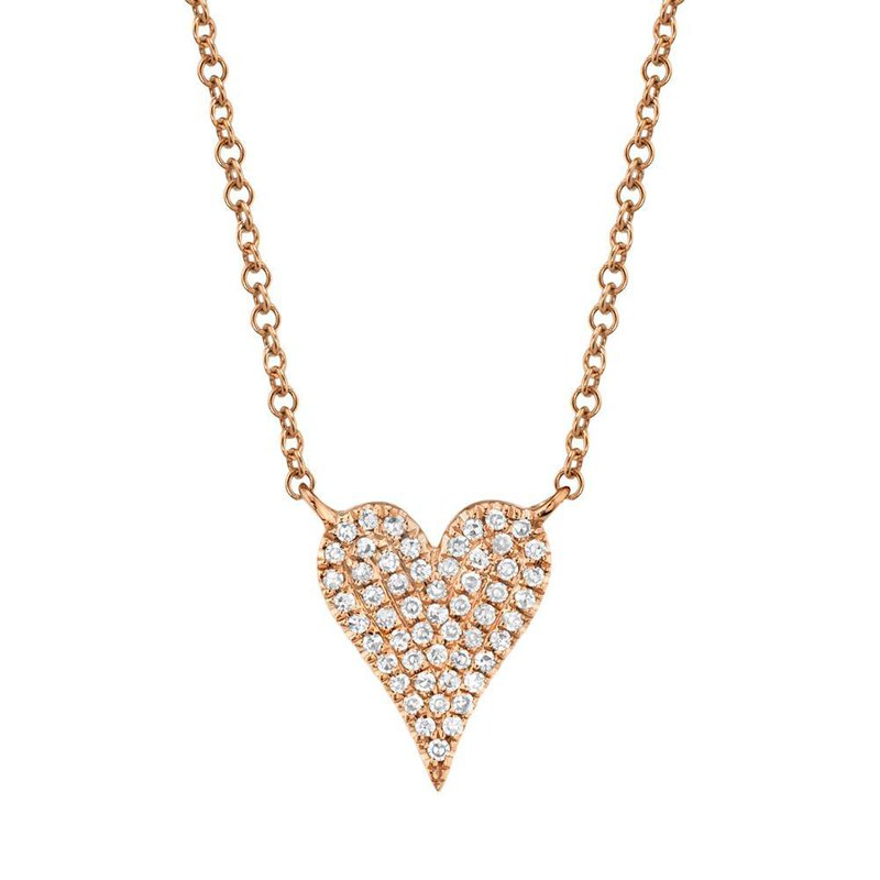 Shy Creation 0.11 ctw Diamond Heart Necklace