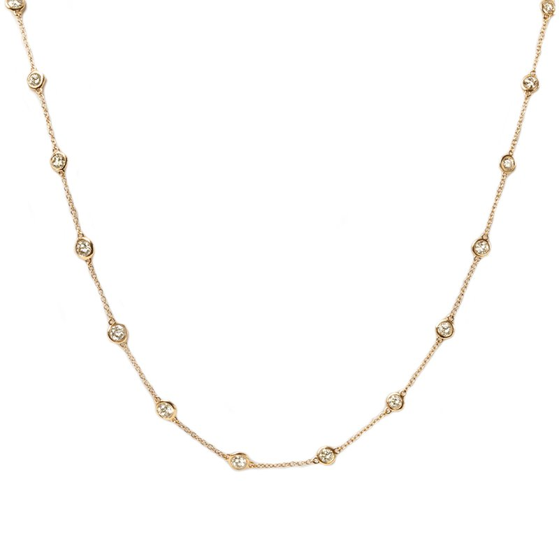 Continental Collection 8.85 ctw Diamond by the Yard Necklace
