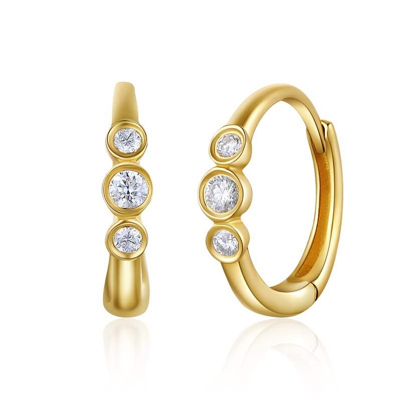 Continental Collection 0.08 ctw Diamond Huggie Earrings