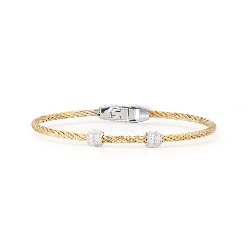 ALOR 0.13 ctw Diamond Cable Bangle Bracelet
