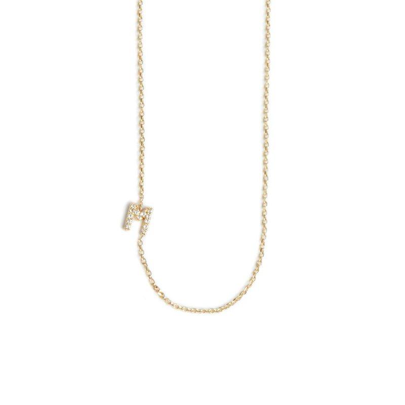 Anzie Customizable Love Letter Pavé Diamond Necklace