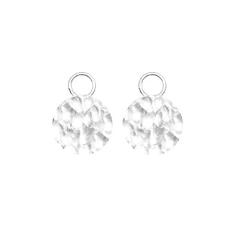 STERLING SILVER FORGED ROUND 12MM PLAIN EARRING JACKETS