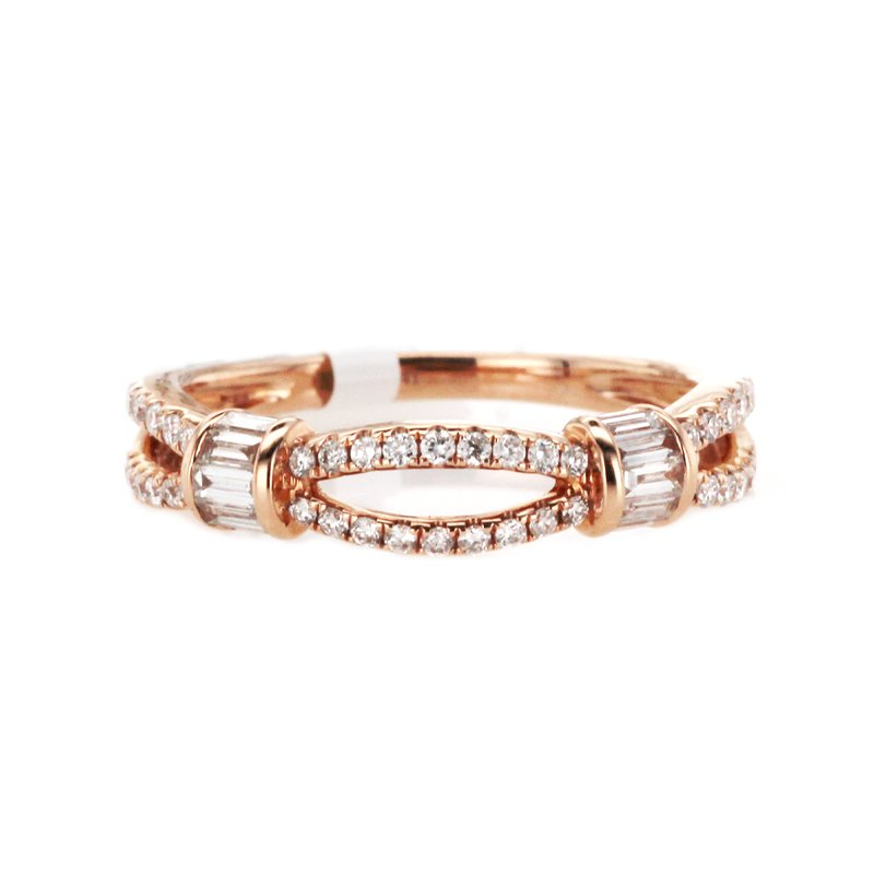 Continental Collection 0.40 ctw Baguette & Round Diamond Band
