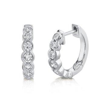 0.60 ctw Diamond Bezel Huggie Earrings