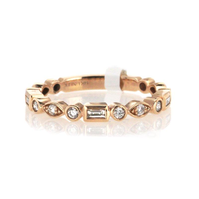 Uneek Fine Jewelry 0.31 ctw Baguette & Round Diamond Band
