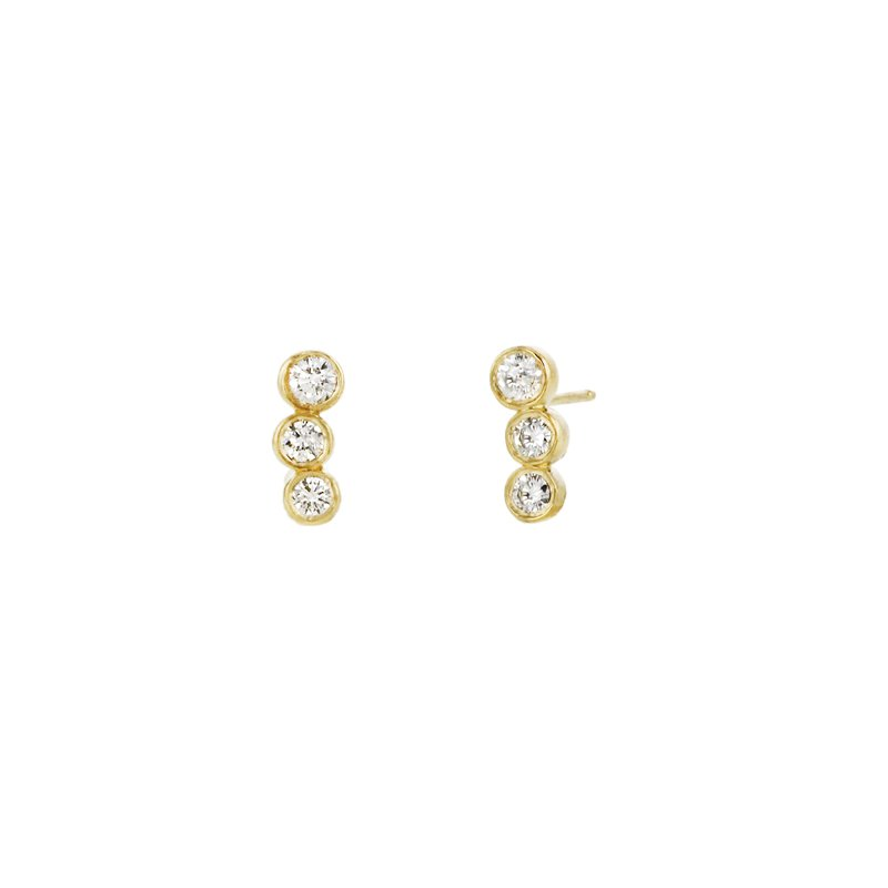 Continental Collection 0.49 ctw Diamond Post Earrings