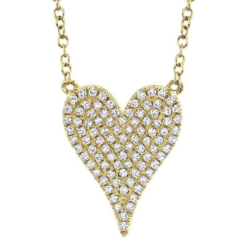 Shy Creation 0.21 ctw Diamond Heart Necklace