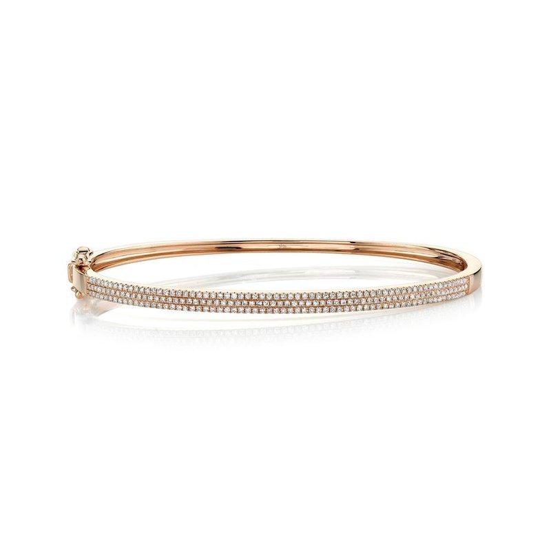 Shy Creation 0.52 ctw Diamond Bangle Bracelet